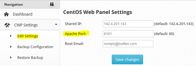 Install and Configure Haproxy on CentOS Web Panel to Protected