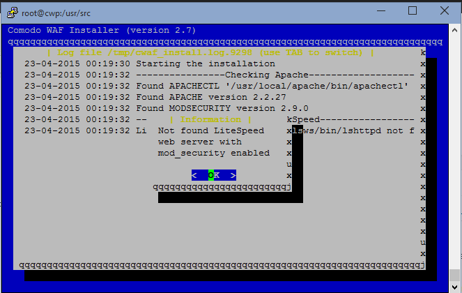 Install Mod_Security and Comodo WAF in CWP - Knowledgebase - BullTen